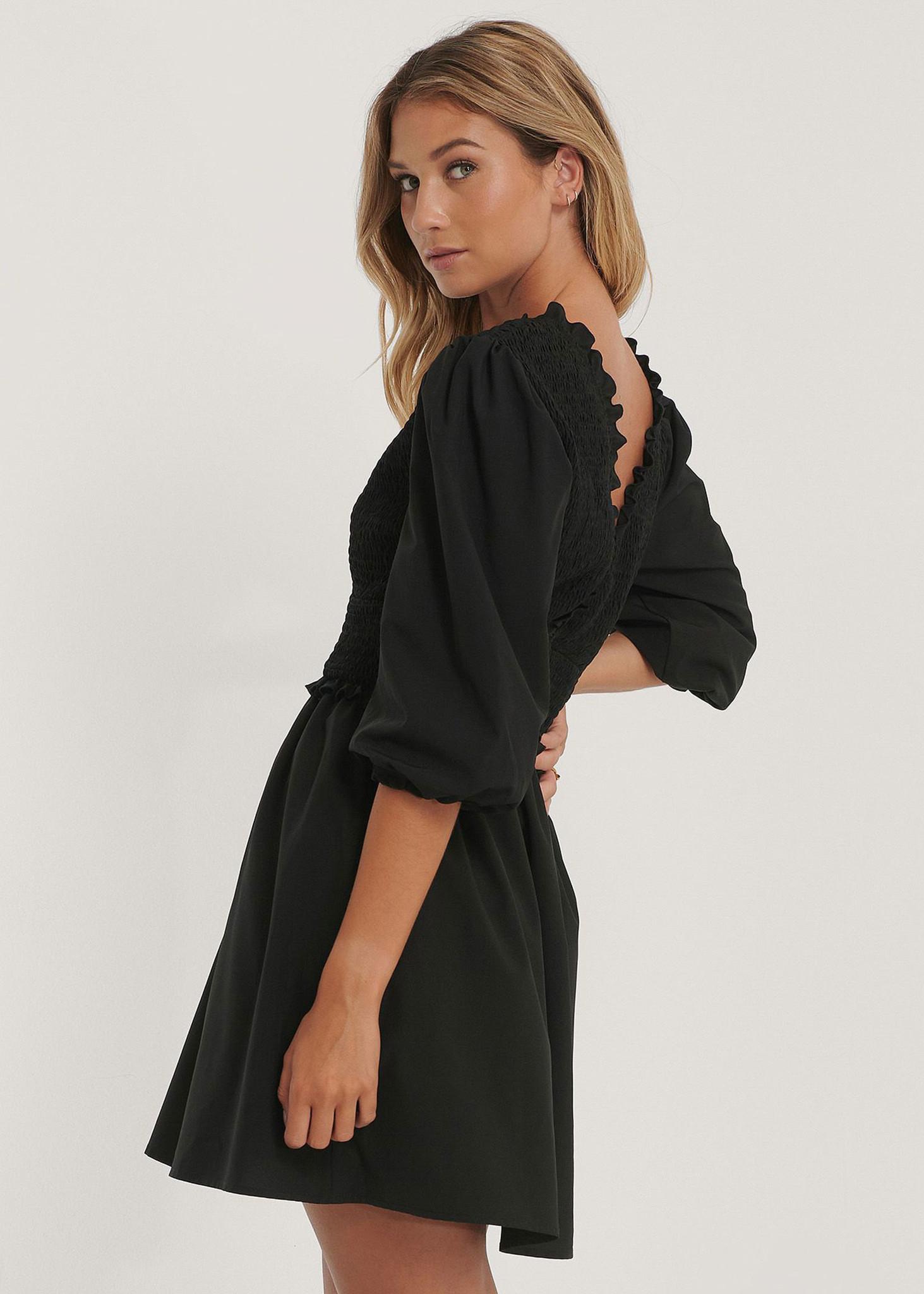 Smocked Mini Dress-2