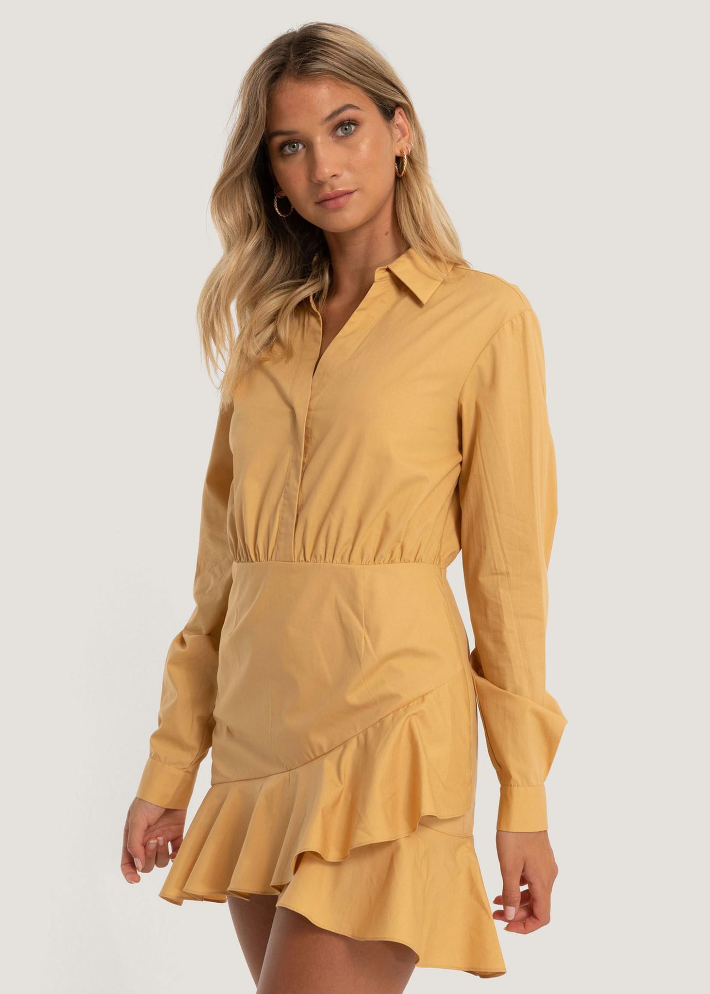 Shirt Flounce Dress-1