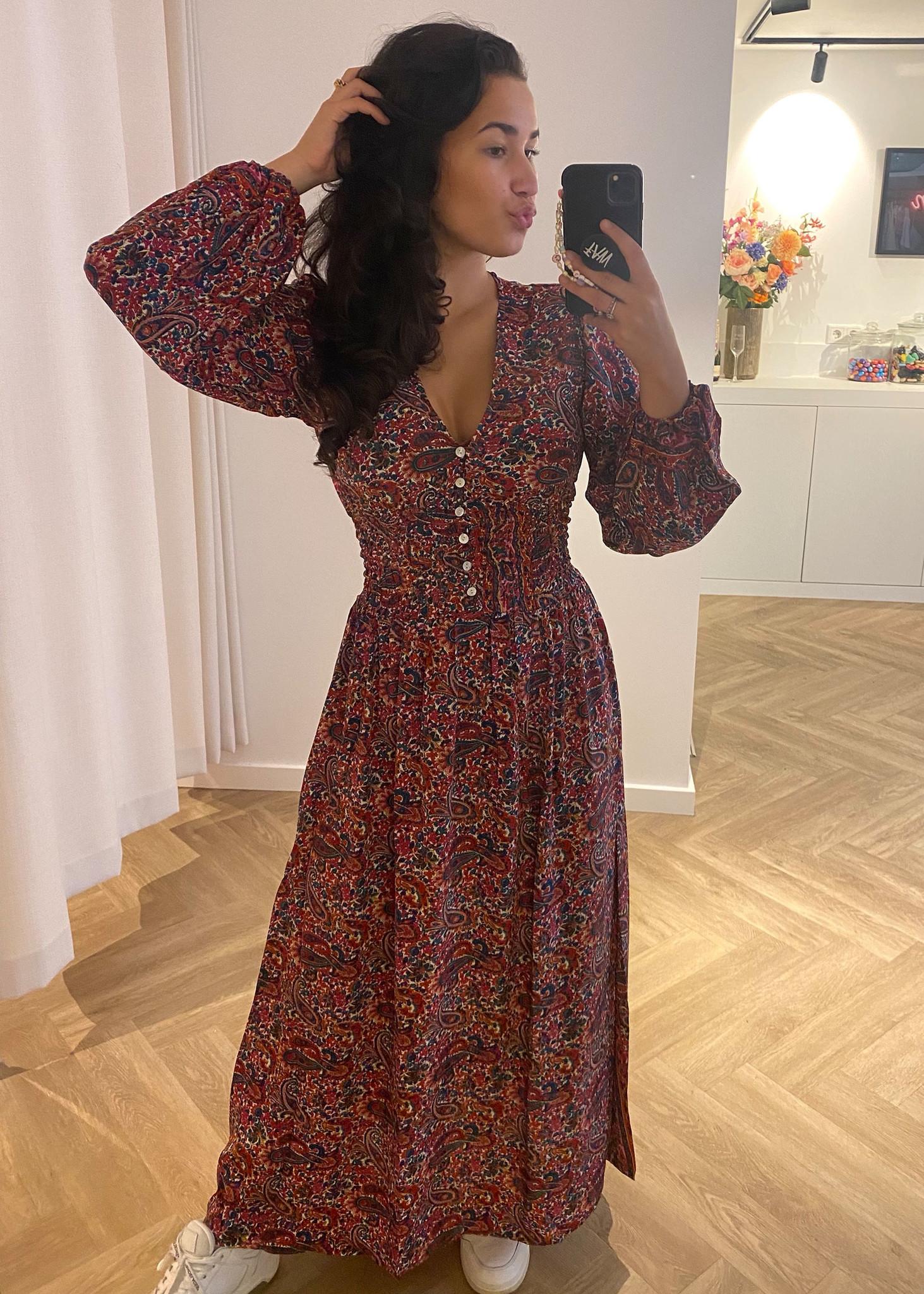 Colored Long Dress-1
