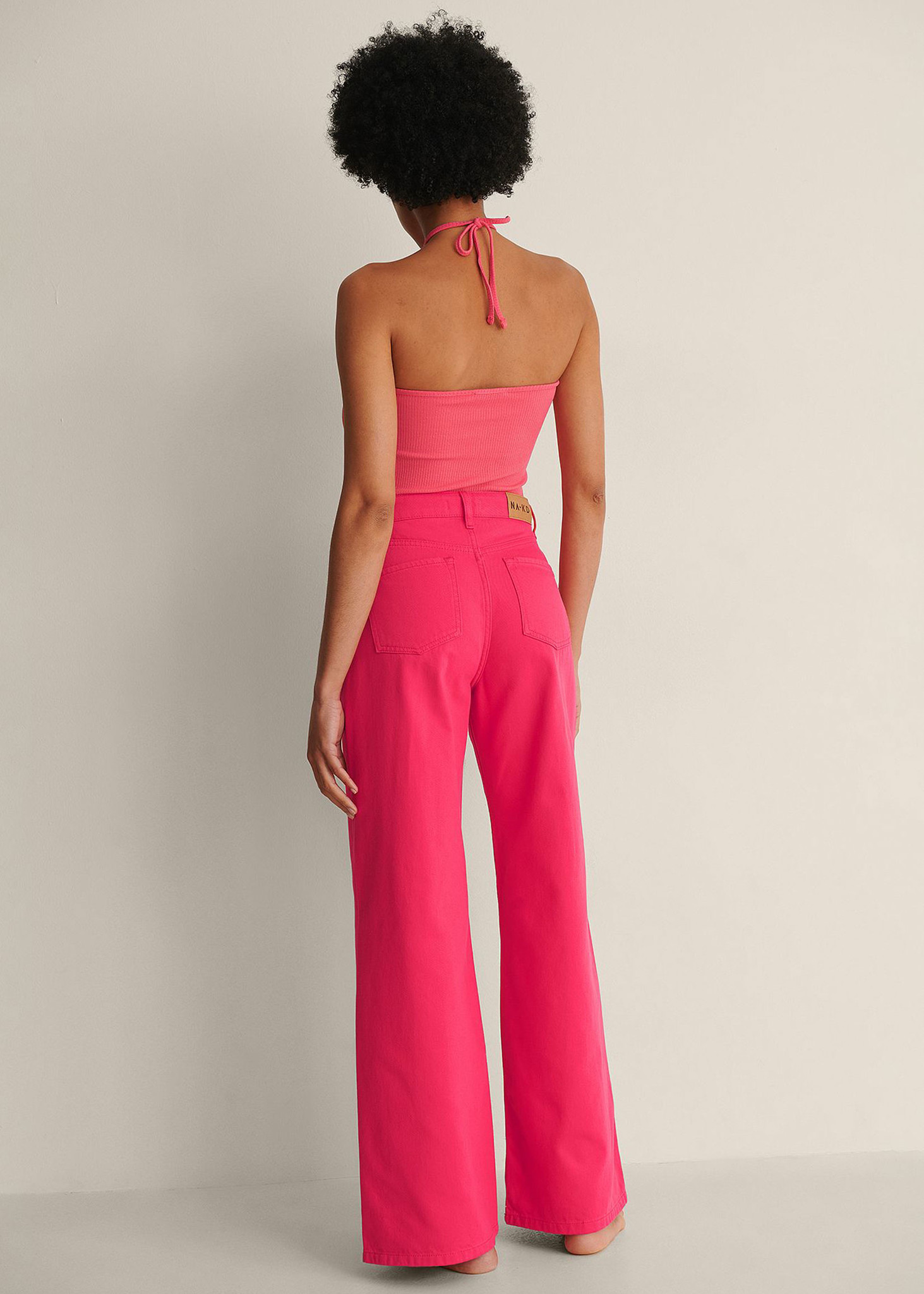 Colored Soft Rigid Wide Jeans-2