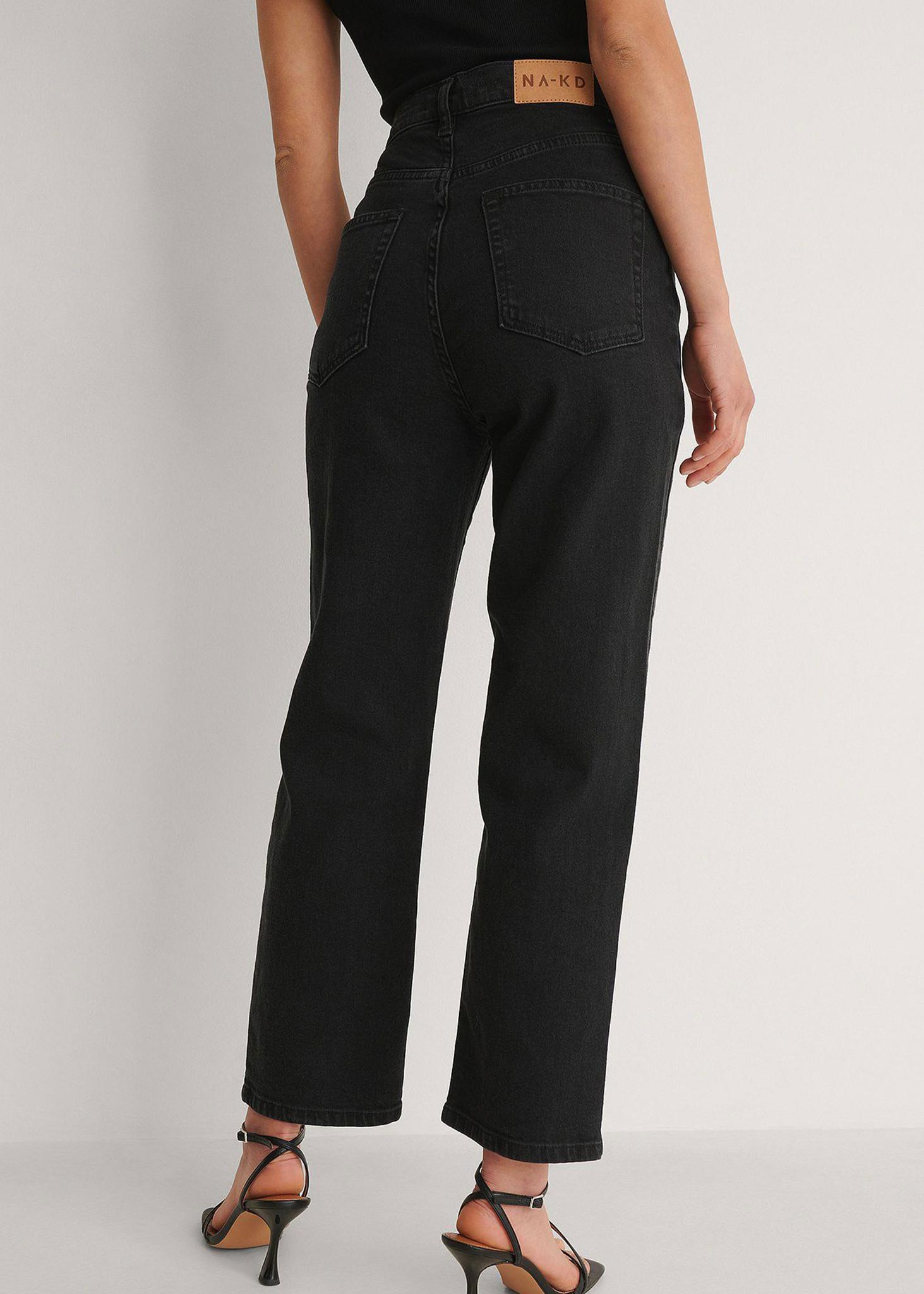 Straight High Waist Jeans Petite-2
