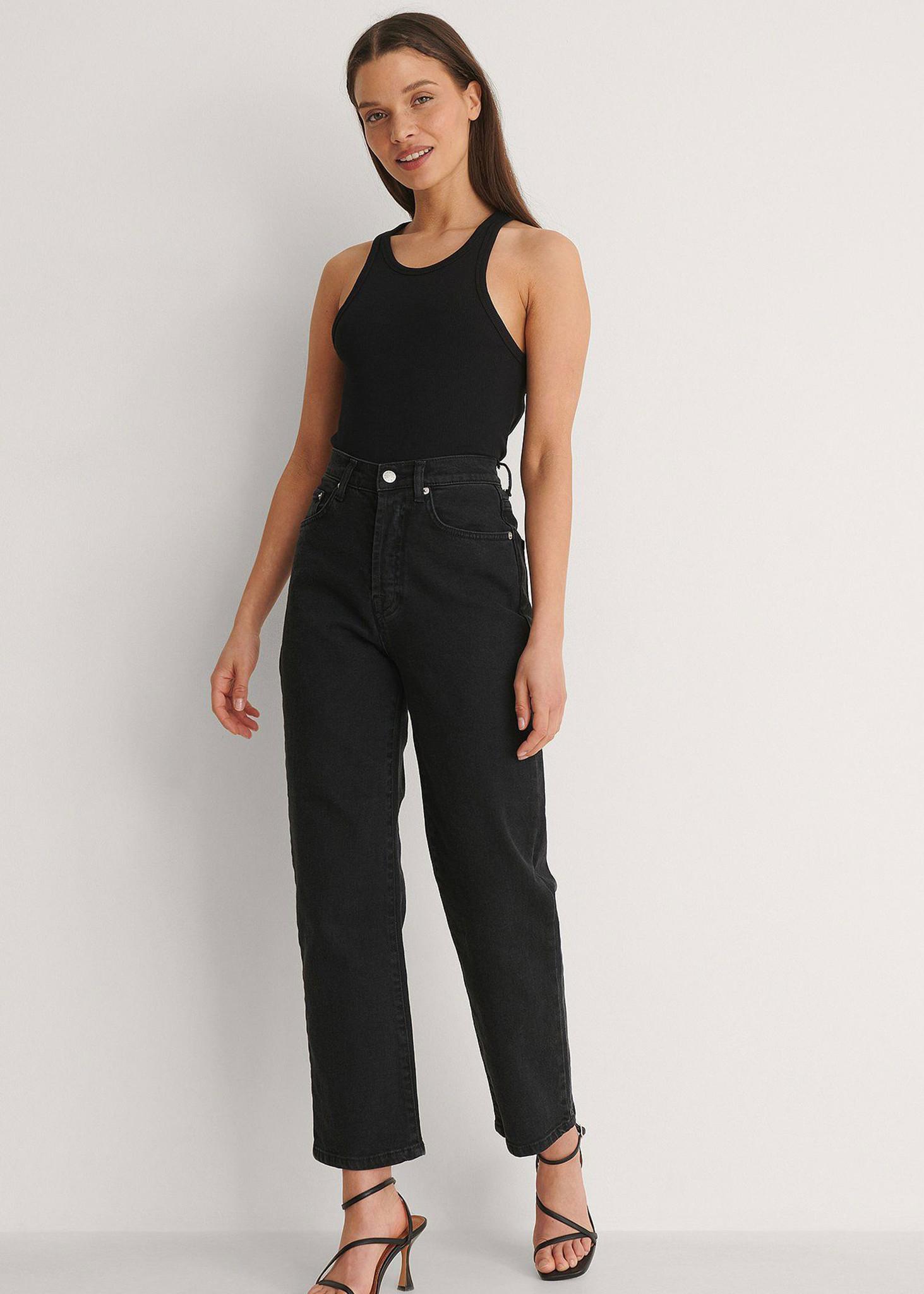 Straight High Waist Jeans Petite-1