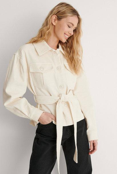 Corduroy Belted Jacket