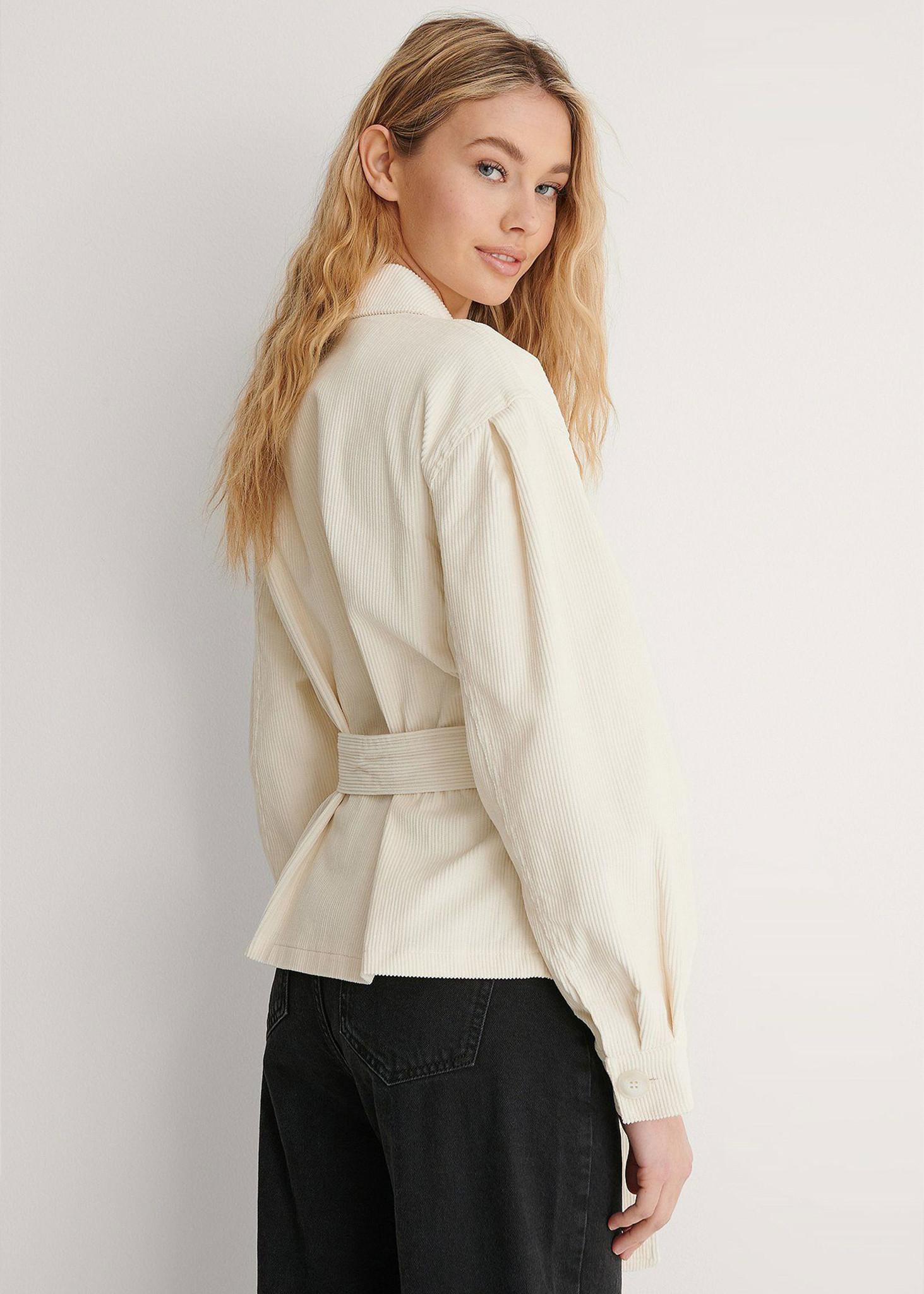 Corduroy Belted Jacket-2