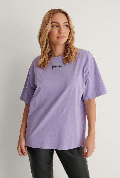 Karma Printed T-shirt Purple