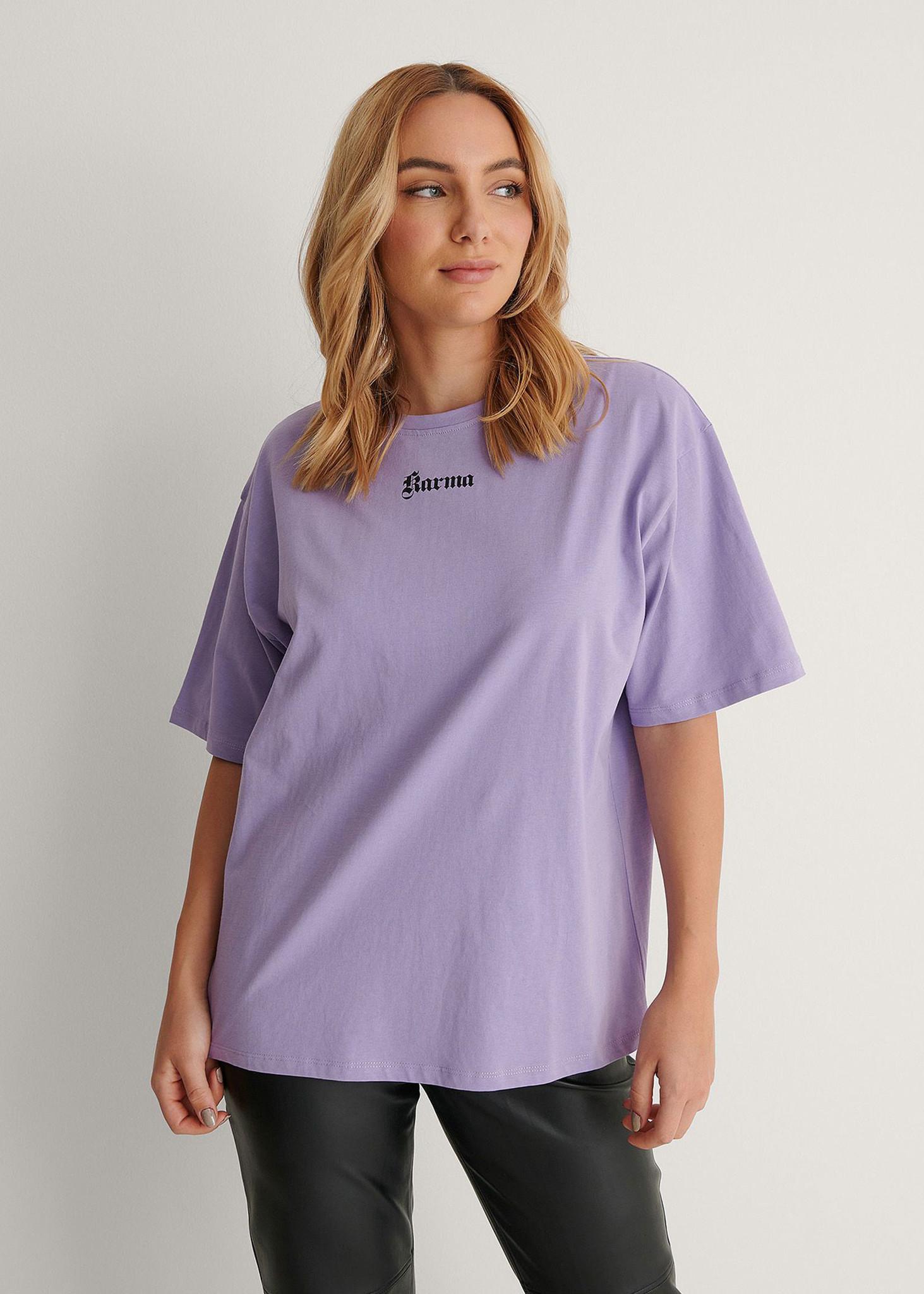 Karma Printed T-shirt Purple-1