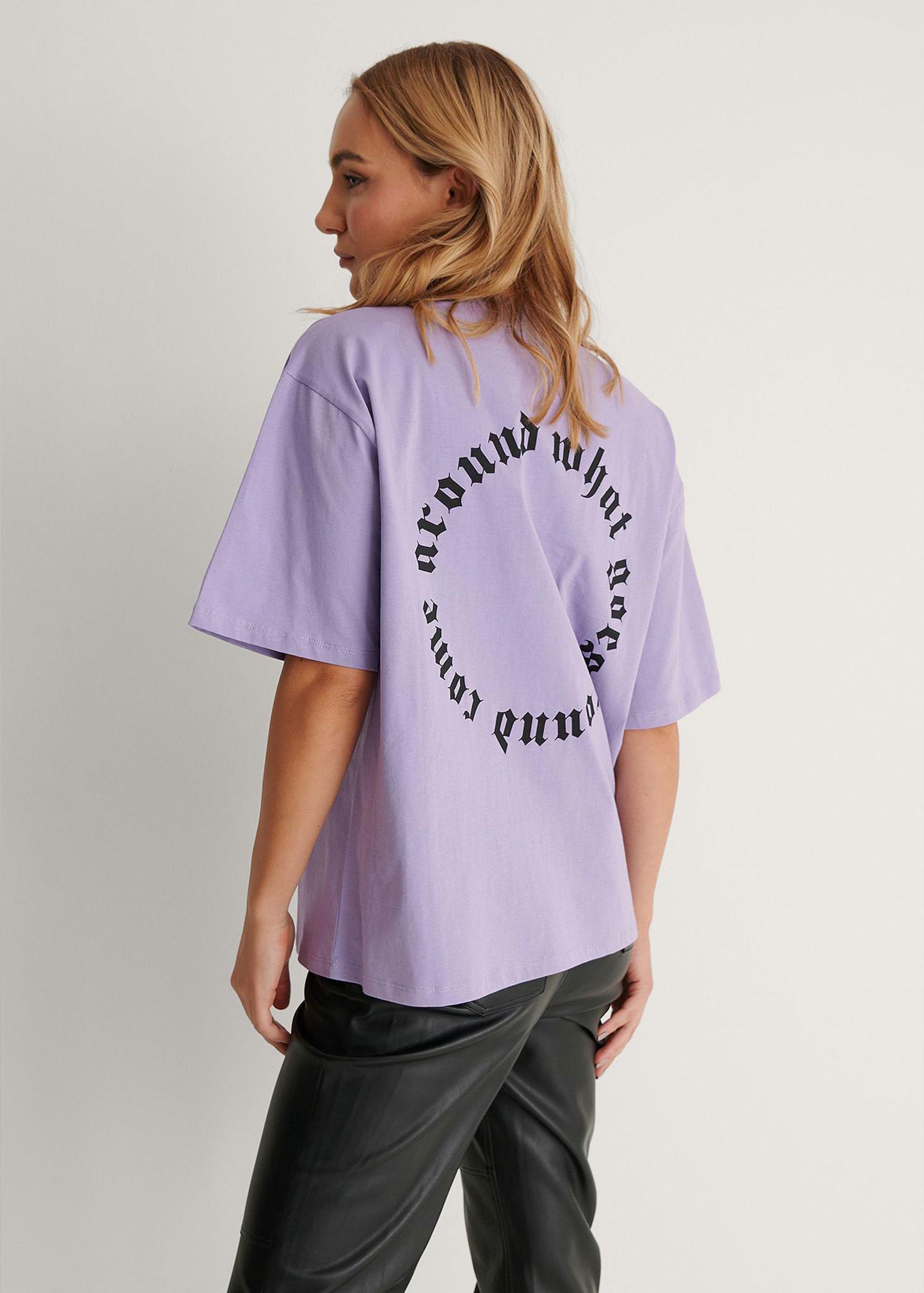 Karma Printed T-shirt Purple-2
