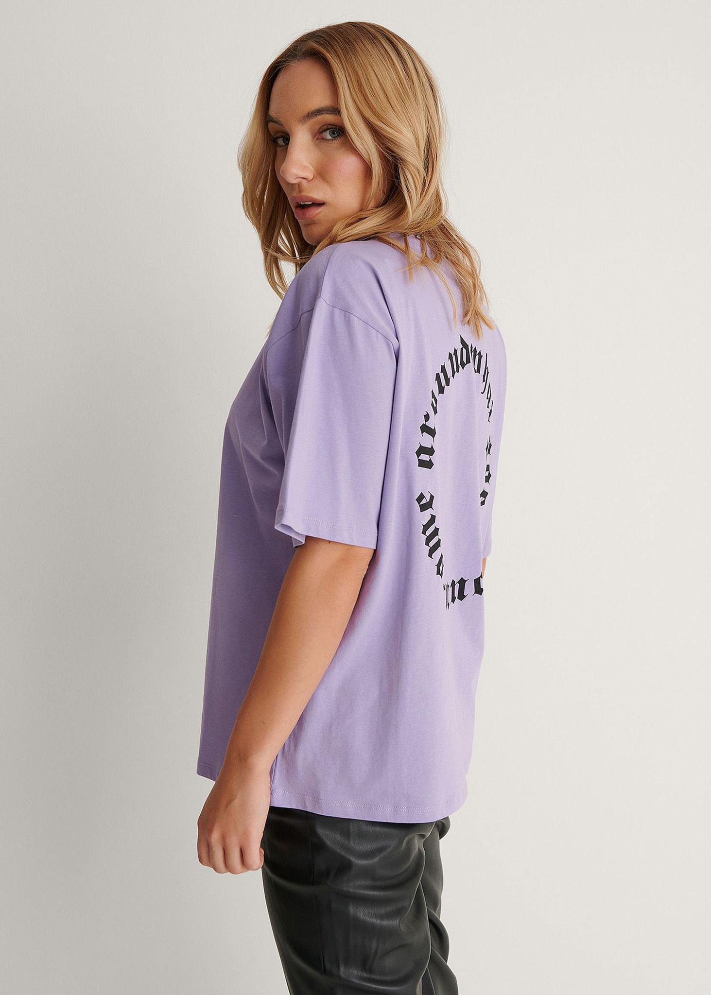 Karma Printed T-shirt Purple-3