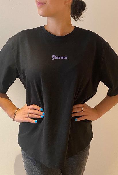 Karma Printed T-Shirt Black