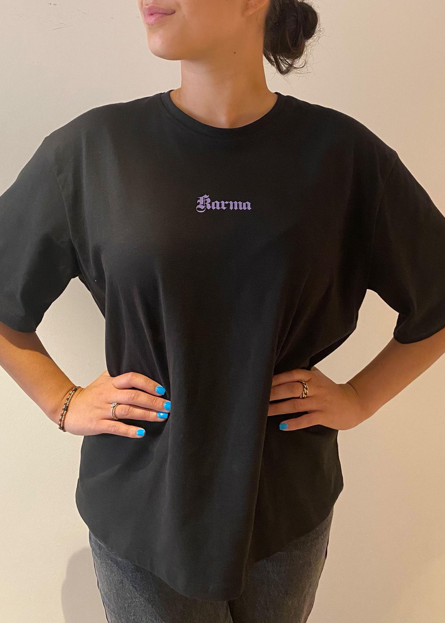 Karma Printed T-Shirt Black-1