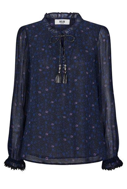Flora Shirt Mazarine Blue