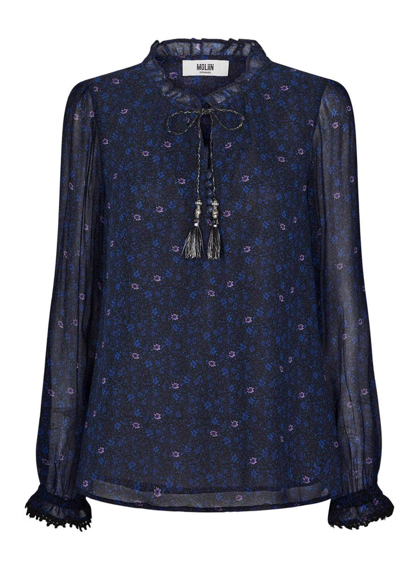 Flora Shirt Mazarine Blue-1