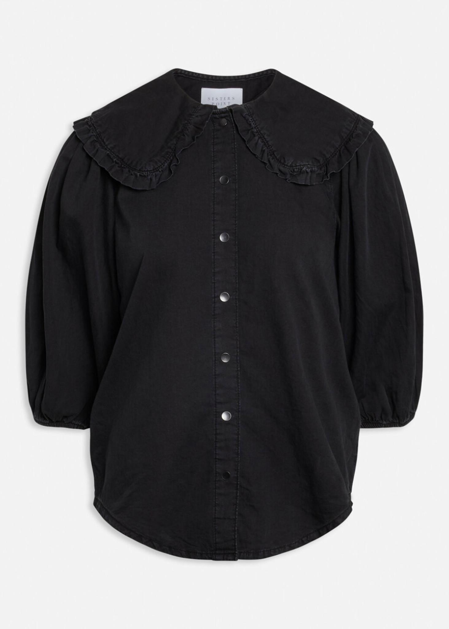 Black Wash Ovia Blouse-1
