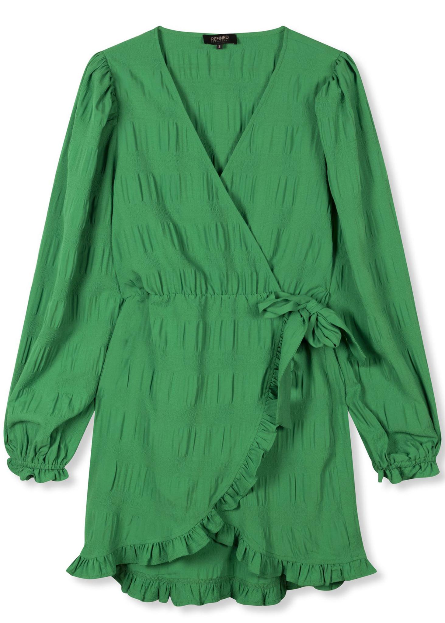 Woven Smock Dress Green-3