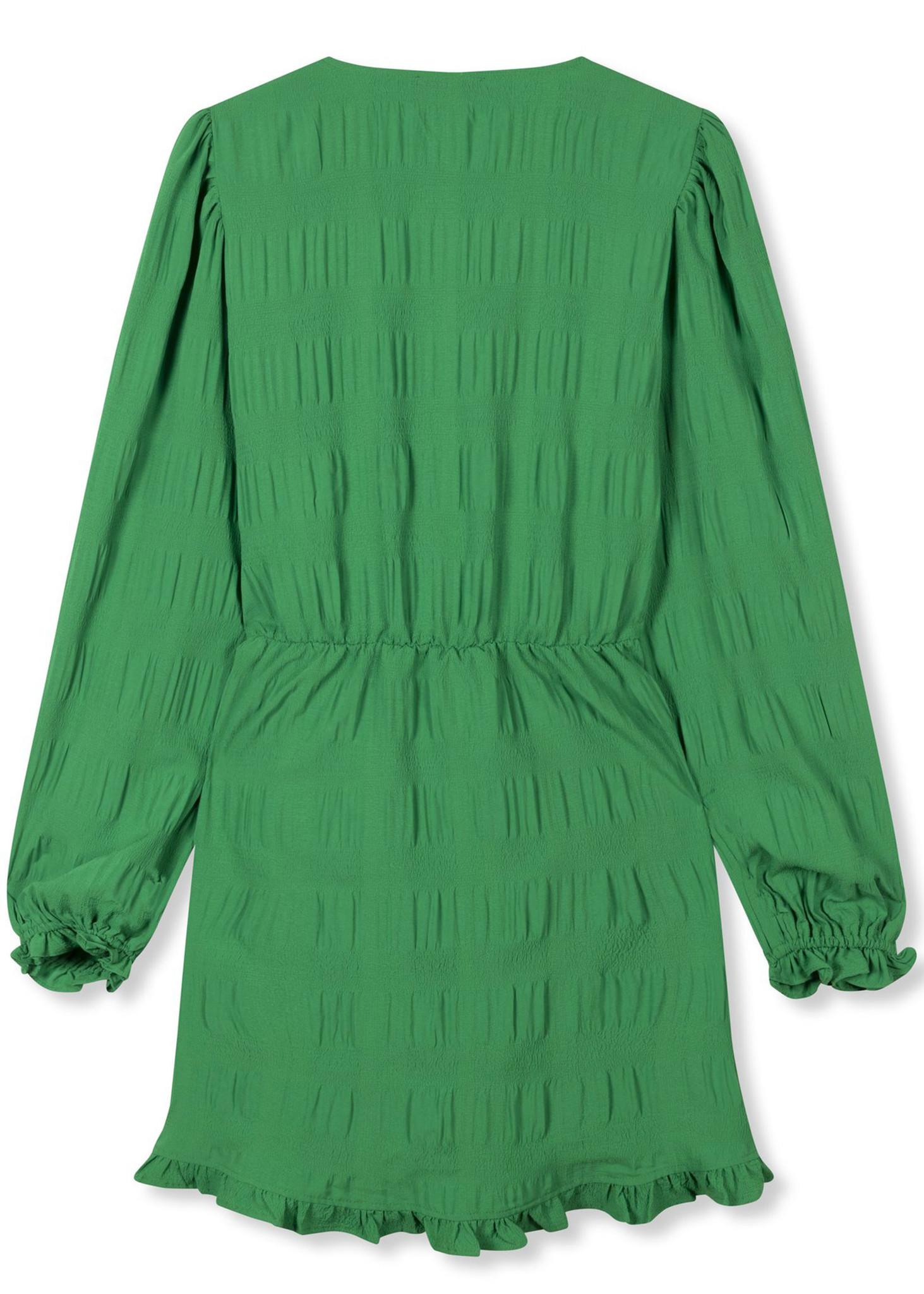 Woven Smock Dress Green-4
