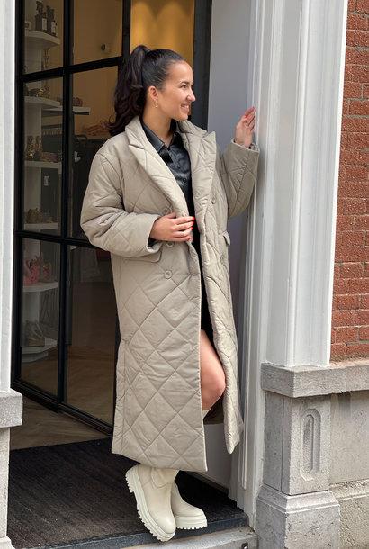 Quilted Coat Khaki
