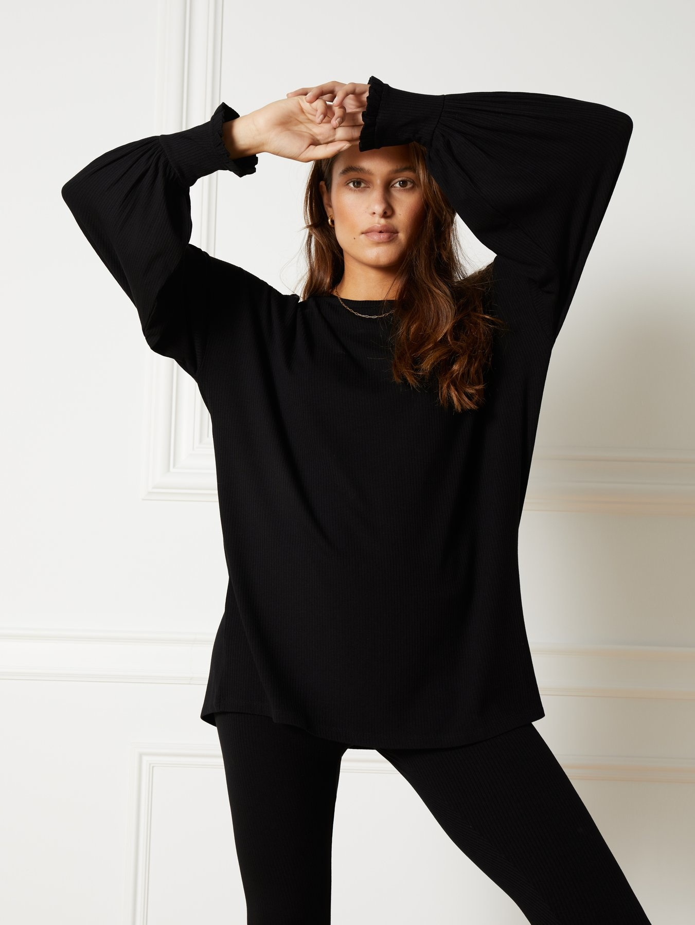 Knitted Rib Jersey Longsleeve-1