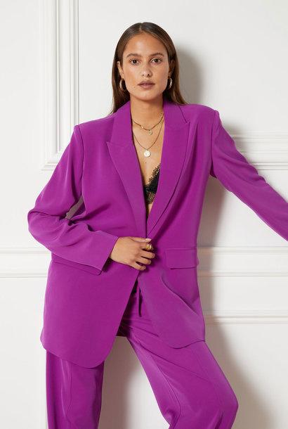 Flowy Suit Blazer Purple