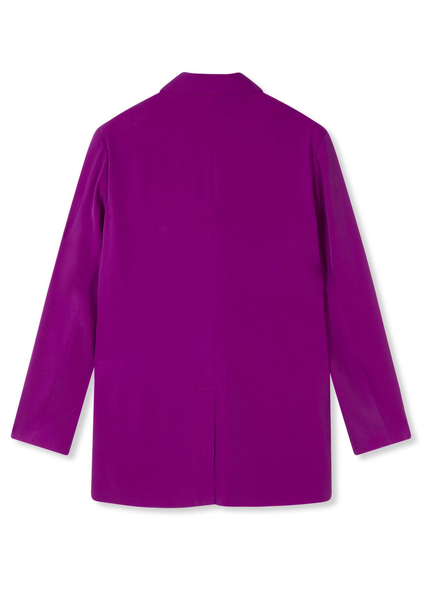 Flowy Suit Blazer Purple-4
