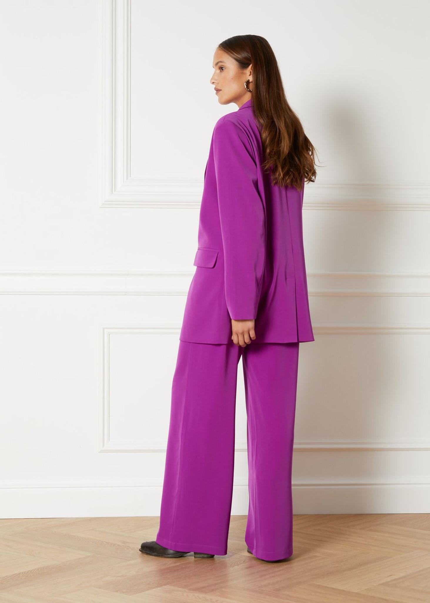 Flowy Suit Blazer Purple-3
