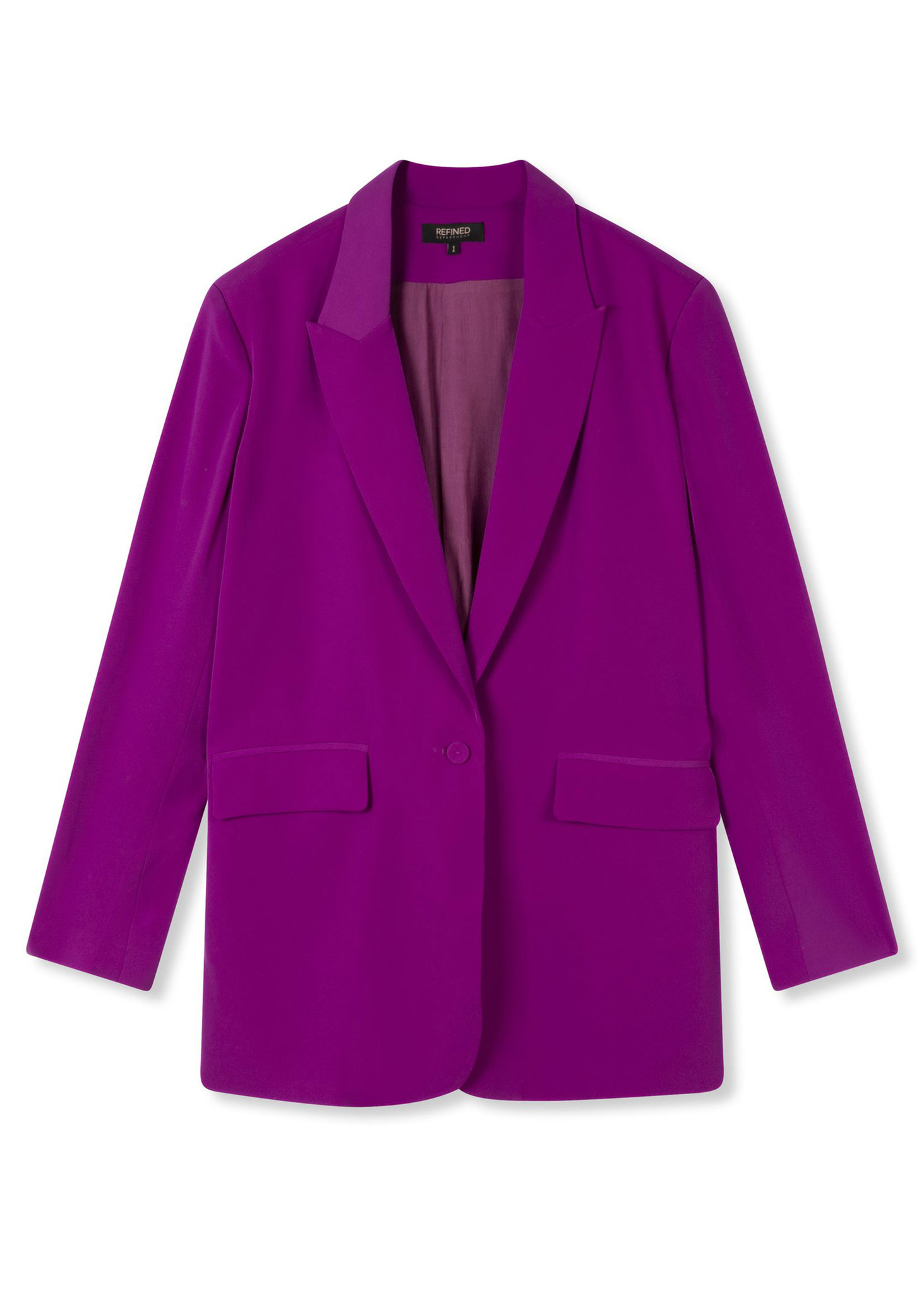 Flowy Suit Blazer Purple-5