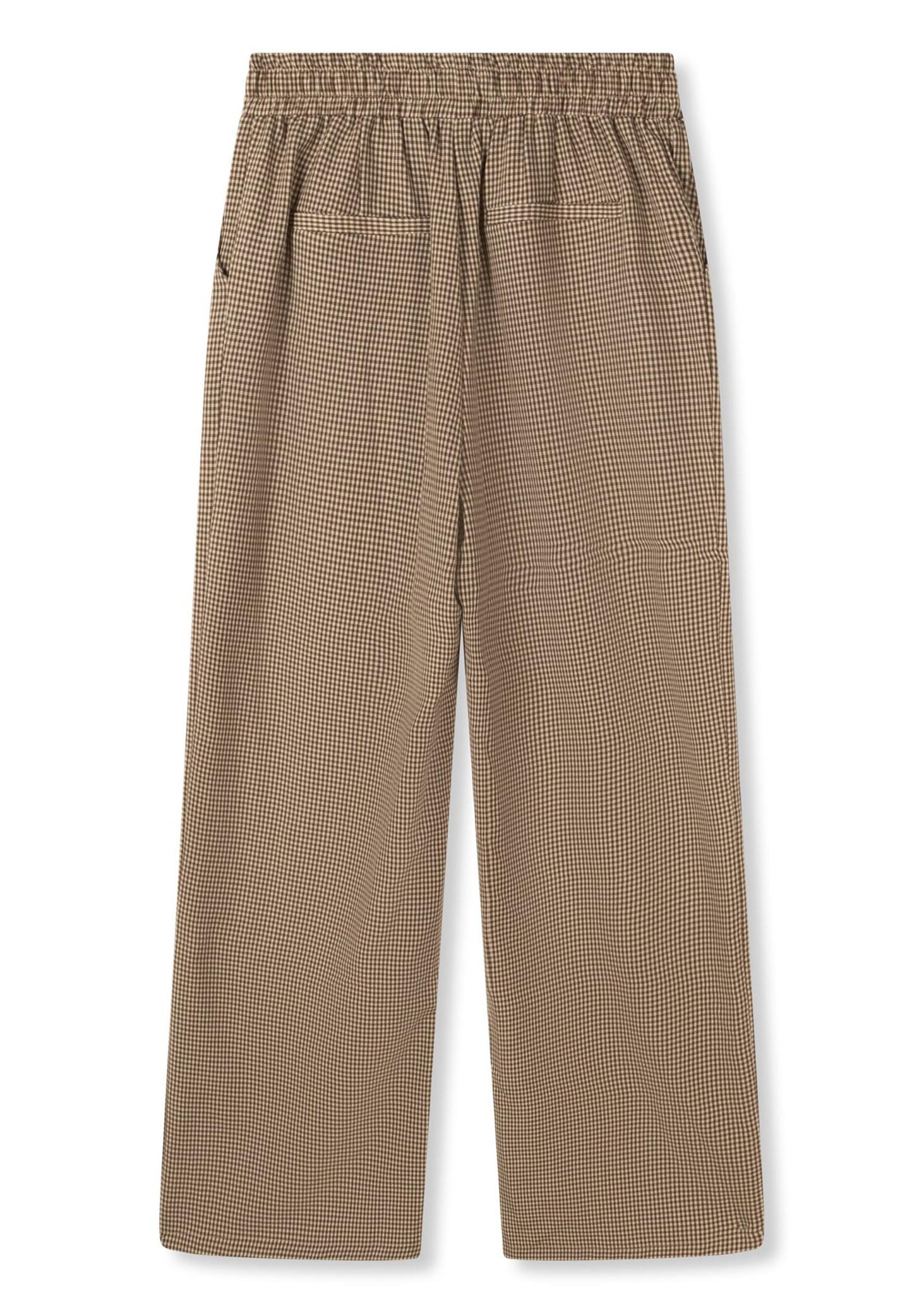 Woven Check Pants-2