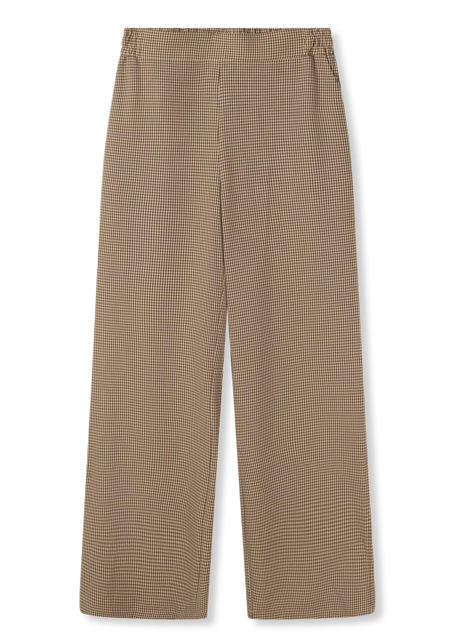 Woven Check Pants-3