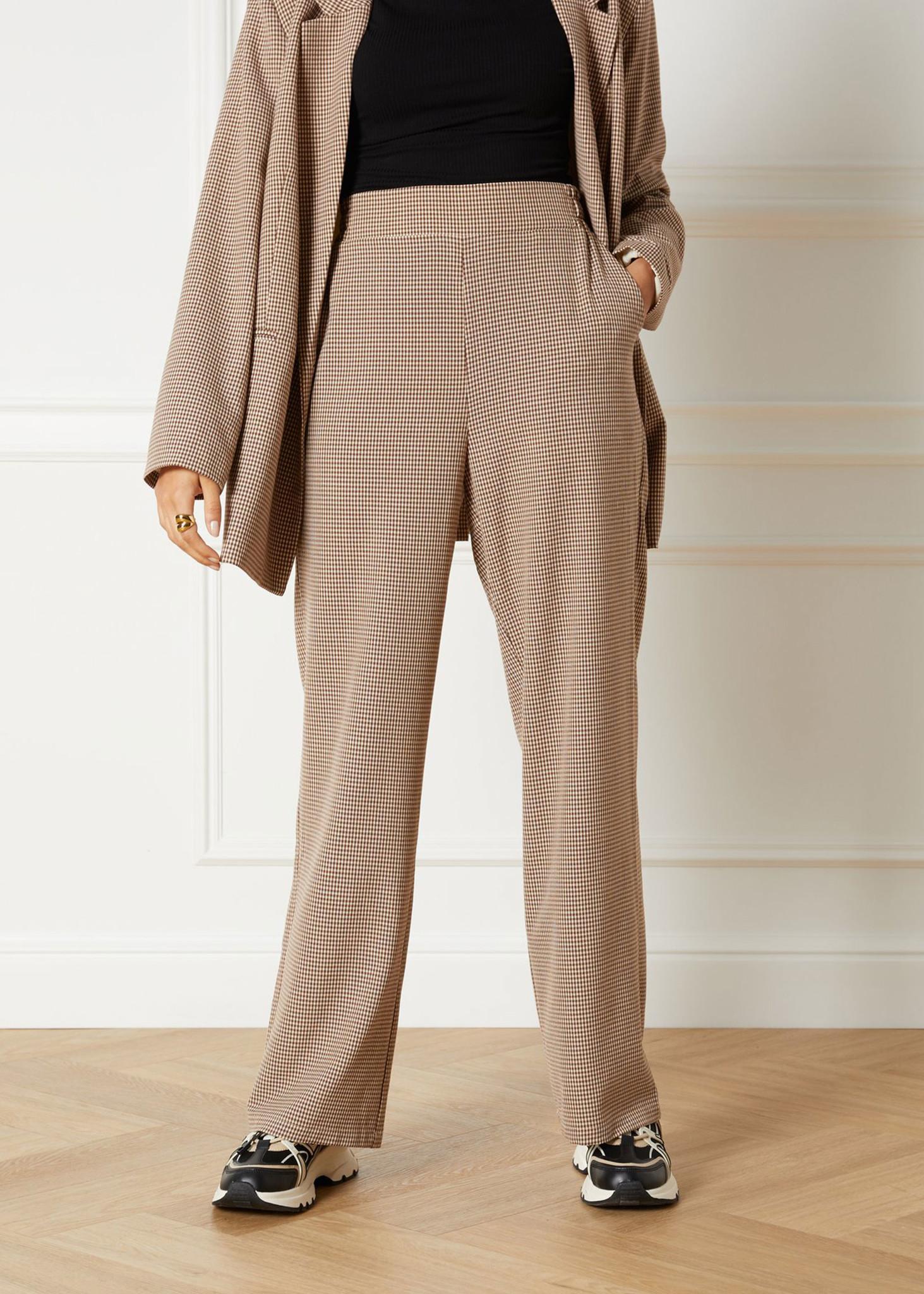 Woven Check Pants-4