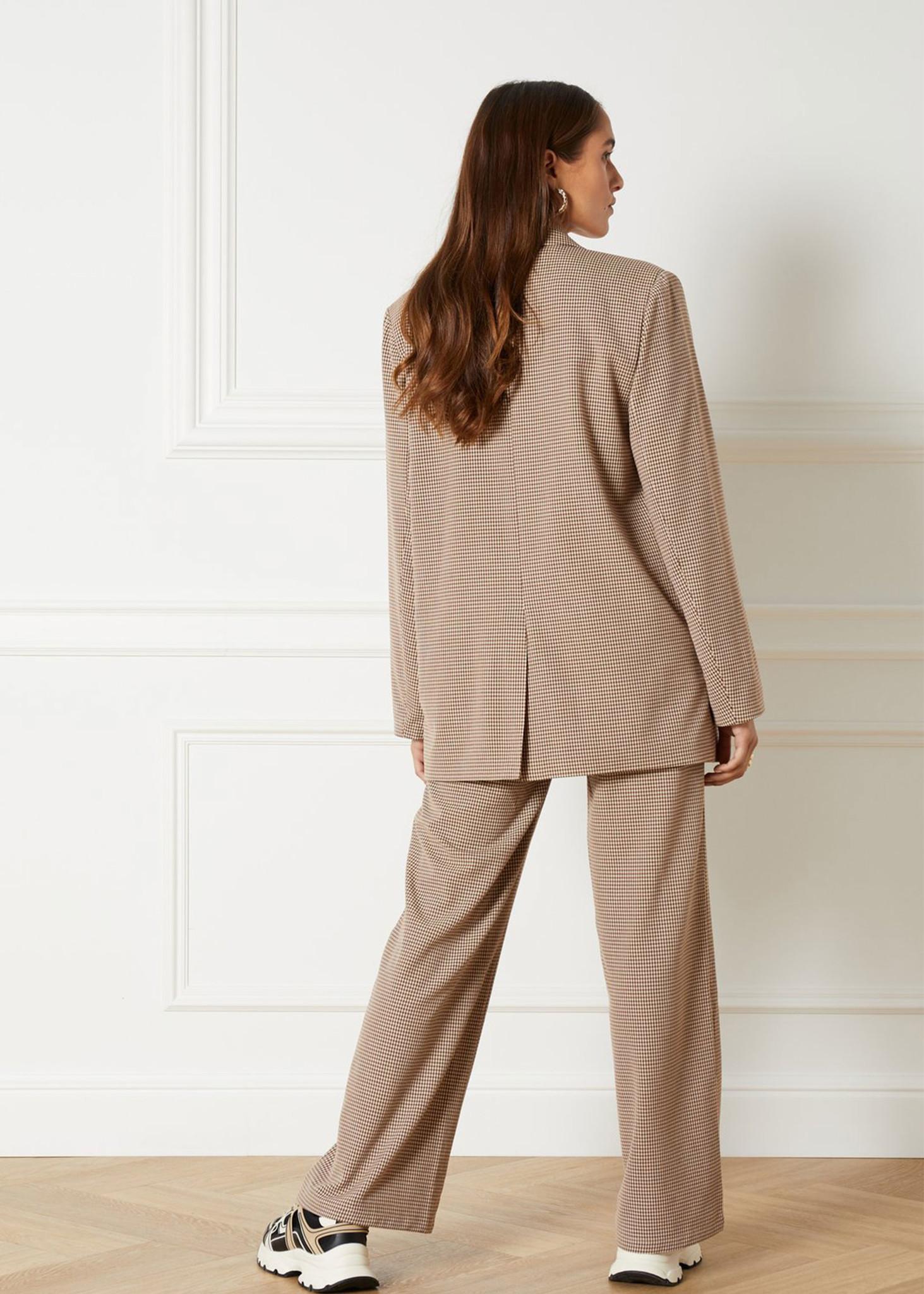 Woven Check Pants-5