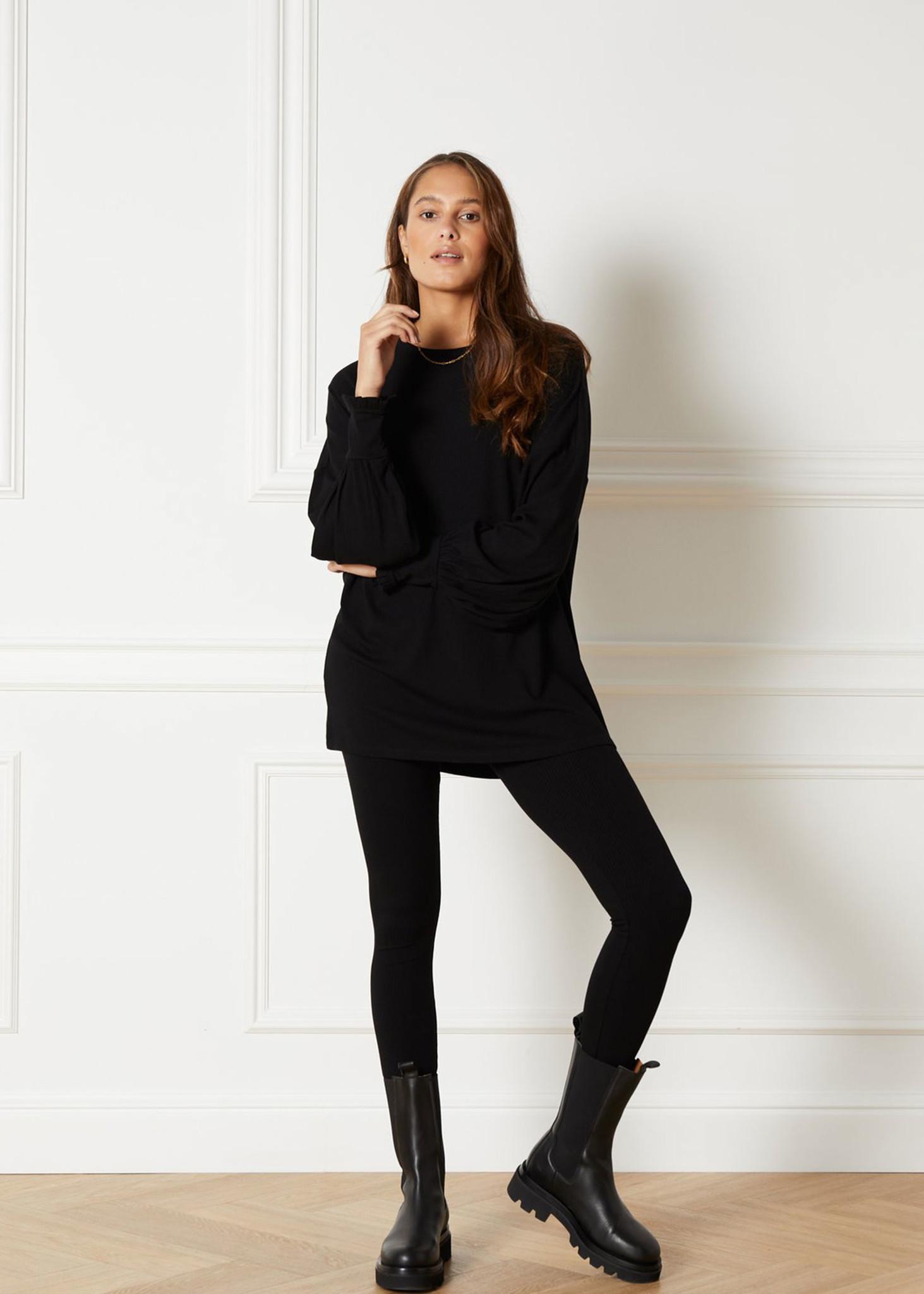 Knitted Rib Jersey Legging-2