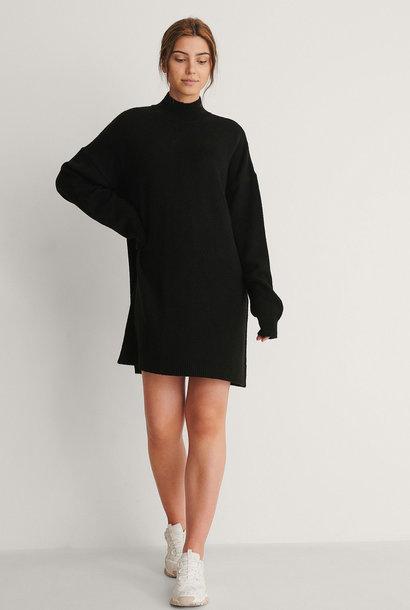 High Neck Mini Dress Black