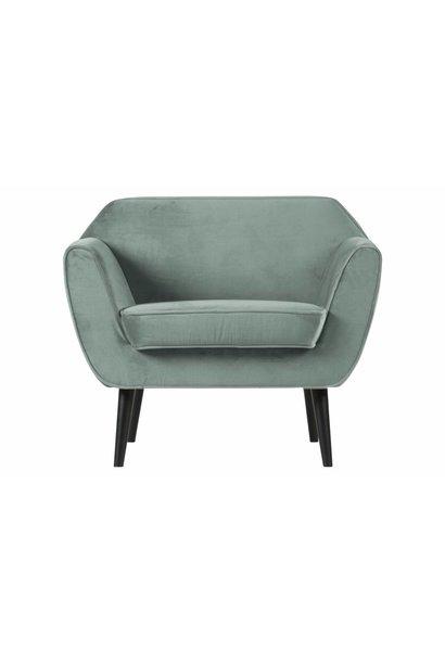fauteuil fluweel mint