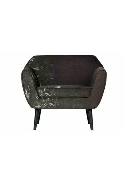 fauteuil fluweel met print