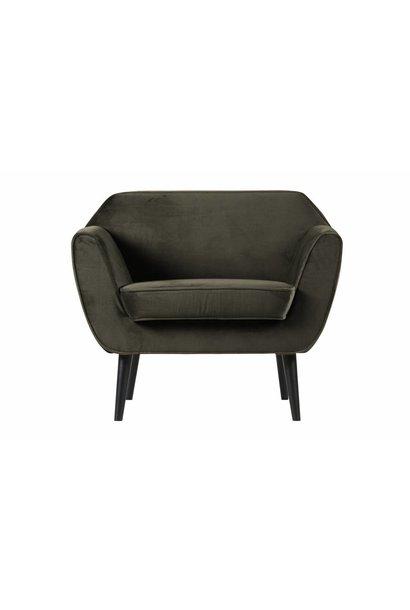 fauteuil fluweel groen