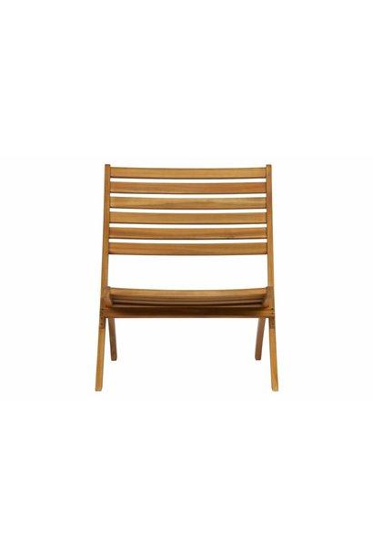 Houten lounge stoel