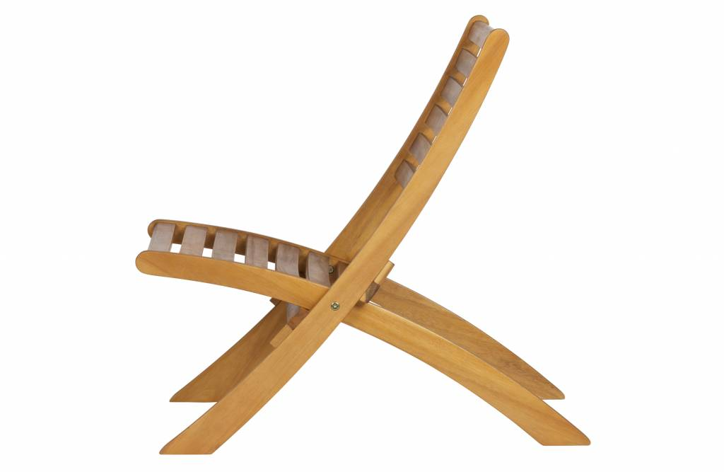 Houten lounge stoel zenz