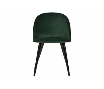 ZENZ eetkamerstoel fluweel  donker groen set v. 2