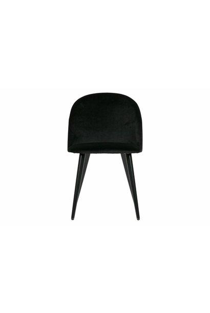 eetkamerstoel fluweel  zwart set v. 2