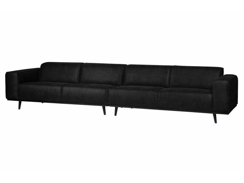 ZENZ 4-zits bank zwart suedine 372 cm