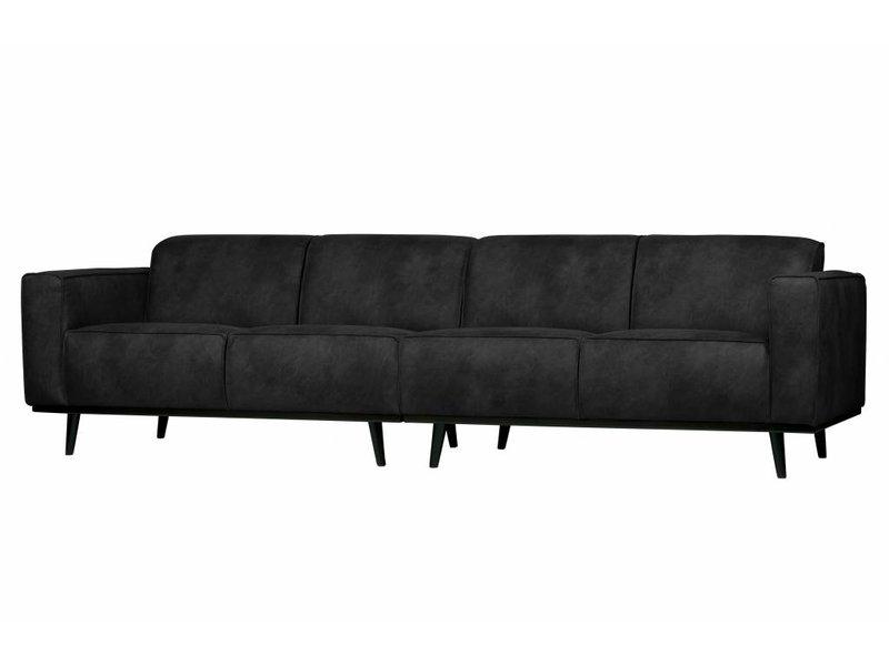 ZENZ 4-zits bank zwart suedine 280 cm