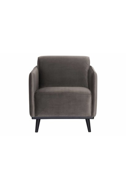 fauteuil taupe fluweel