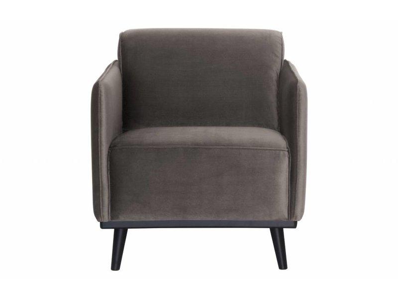 ZENZ fauteuil taupe fluweel