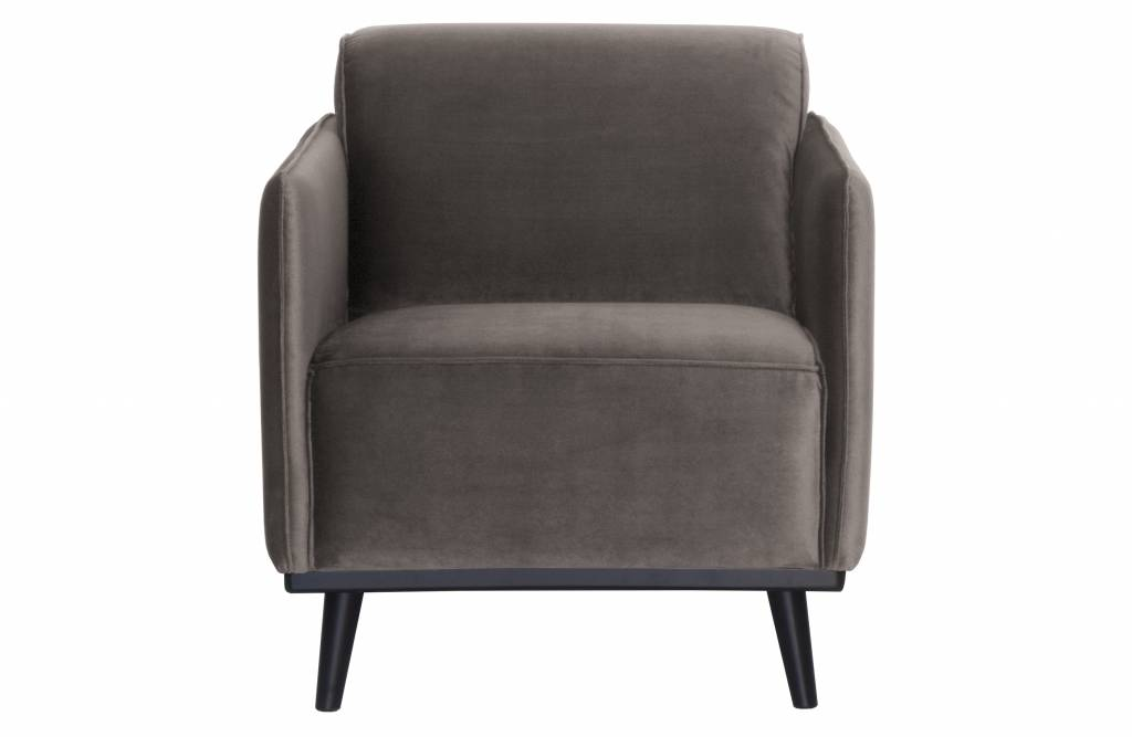 fauteuil taupe fluweel-1