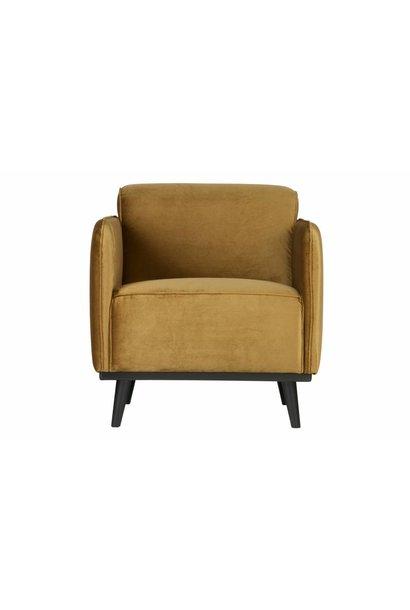 fauteuil honing geel fluweel