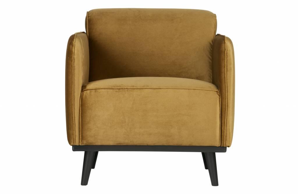 fauteuil honing geel fluweel-1
