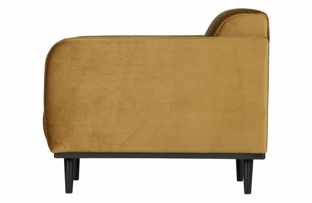 fauteuil honing geel fluweel-2
