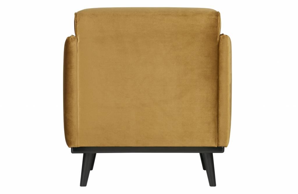 fauteuil honing geel fluweel-3