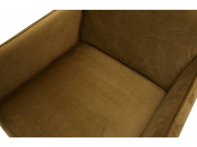ZENZ fauteuil honing geel fluweel