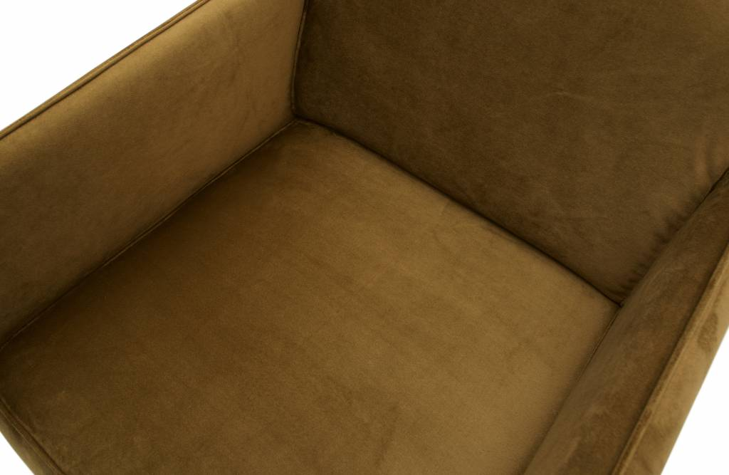 fauteuil honing geel fluweel-4