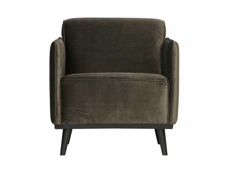 ZENZ fauteuil warm groen fluweel